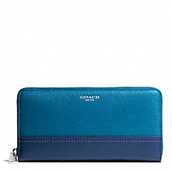 COACH SAFFIANO COLORBLOCK LEATHER ACCORDION ZIP - ONE COLOR - F49381