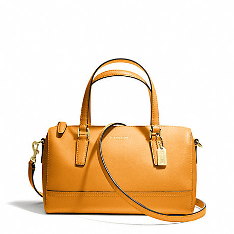 COACH f49392 SAFFIANO LEATHER MINI SATCHEL BRASS/MARIGOLD