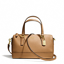 COACH MINI SATCHEL IN SAFFIANO LEATHER - BRASS/TOFFEE - F49392