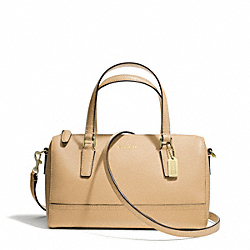 COACH SAFFIANO LEATHER MINI SATCHEL - LIGHT GOLD/TAN - F49392