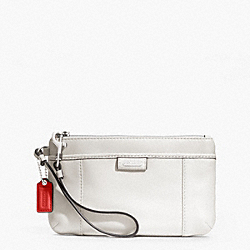 COACH DAISY LEATHER MEDIUM WRISTLET - SILVER/PARCHMENT - F49396