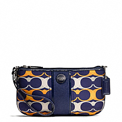 COACH SIGNATURE STRIPE LINEAR SIGNATURE LARGE WRISTLET - ONE COLOR - F49420