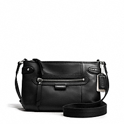 COACH DAISY LEATHER SWINGPACK - SILVER/BLACK - F49425