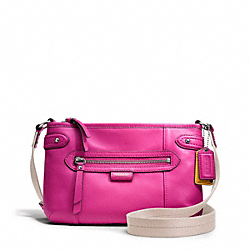 COACH DAISY LEATHER SWINGPACK - SILVER/BRIGHT MAGENTA - F49425