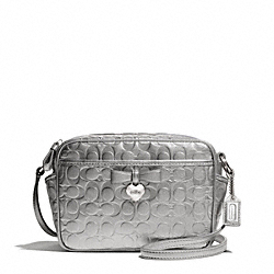 COACH EMBOSSED LIQUID GLOSS MINI CAMERA BAG - ONE COLOR - F49430