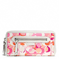 COACH DAISY KALEIDESCOPE PRINT ACCORDIAN ZIP - ONE COLOR - F49438