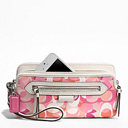 COACH DAISY KALEIDESCOPE PRINT DOUBLE ZIP WALLET - ONE COLOR - F49451