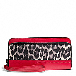 COACH PARK OCELOT PRINT DOUBLE ACCORDION ZIP - ONE COLOR - F49458