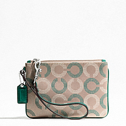 COACH ASHLEY DOTTED OP ART SMALL WRISTLET - ONE COLOR - F49460