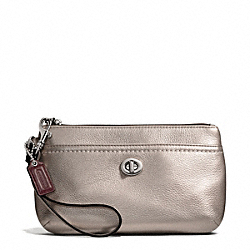 PARK LEATHER MEDIUM WRISTLET - SILVER/PEWTER - COACH F49472