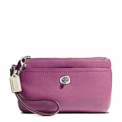COACH PARK LEATHER MEDIUM WRISTLET - SILVER/ROSE - F49472