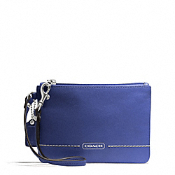 COACH PARK LEATHER SMALL WRISTLET - SILVER/FRENCH BLUE - F49475