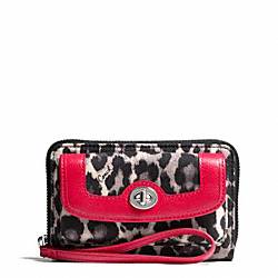 COACH PARK OCELOT PRINT UNIVERSAL ZIP WALLET - ONE COLOR - F49488