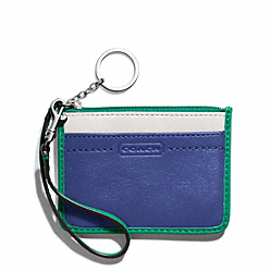 COACH PARK COLORBLOCK LEATHER ID SKINNY - SILVER/FRENCH BLUE MULTI - F49502