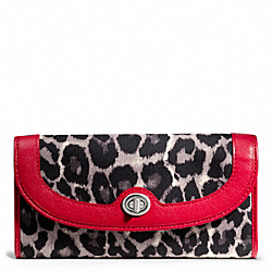COACH PARK OCELOT PRINT SLIM ENVELOPE - ONE COLOR - F49503
