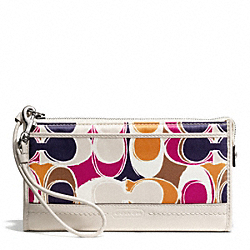 COACH PARK HAND DRAWN SCARF PRINT ZIPPY WALLET - ONE COLOR - F49505