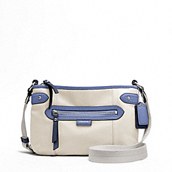 COACH DAISY SPECTATOR LEATHER SWINGPACK - SILVER/PARCHMENT MULTI - F49516