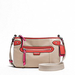 COACH DAISY SPECTATOR LEATHER SWINGPACK - SILVER/SAND MULTICOLOR - F49516