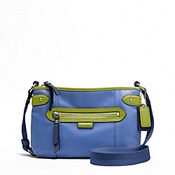 COACH DAISY SPECTATOR LEATHER SWINGPACK - SILVER/MOONLIGHT BLUE MULTI - F49516