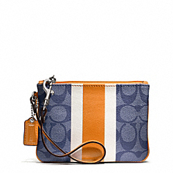 COACH SIGNATURE STRIPE PVC STRIPE SMALL WRISTLET - ONE COLOR - F49522