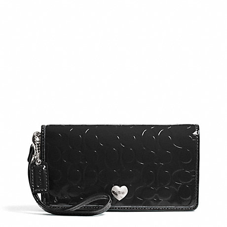 COACH EMBOSSED LIQUID GLOSS DEMI CLUTCH -  - f49540