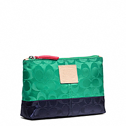 COACH WEEKEND COLORBLOCK NYLON MEDIUM COSMETIC CASE - ONE COLOR - F49545