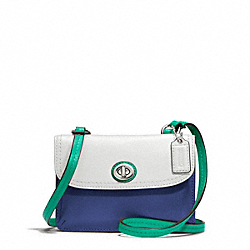 COACH PARK COLORBLOCK LEATHER DYLAN - SILVER/FRENCH BLUE MULTI - F49554