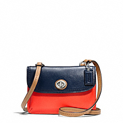 COACH PARK COLORBLOCK LEATHER DYLAN - SILVER/VERMILLION MULTICOLOR - F49554
