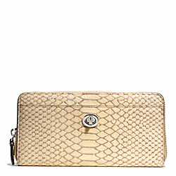 COACH PARK PYTHON ACCORDION ZIP - ONE COLOR - F49560