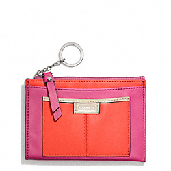 COACH DAISY SPECTATOR LEATHER MEDIUM SKINNY - SILVER/VERMILLION MULTICOLOR - F49570