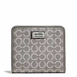 COACH MADISON NEEDLEPOINT OP ART SMALL WALLET - ONE COLOR - F49589