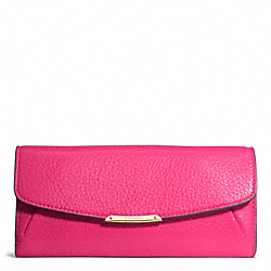 MADISON SLIM ENVELOPE WALLET IN LEATHER - f49595 -  LIGHT GOLD/PINK RUBY