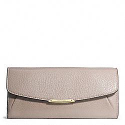 COACH MADISON LEATHER SLIM ENVELOPE WALLET - LIGHT GOLD/GREY BIRCH - F49595