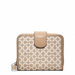 COACH MADISON NEEDLE POINT OP ART MEDIUM ZIP - ONE COLOR - F49602
