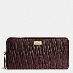 MADISON GATHERED TWIST ACCORDION ZIP WALLET - IMOXB - COACH F49609