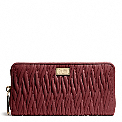 MADISON GATHERED TWIST ACCORDION ZIP WALLET COACH F49609