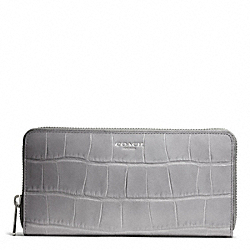 COACH EMBOSSED CROC ACCORDION ZIP - ONE COLOR - F49654
