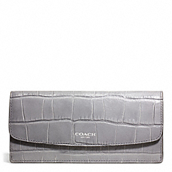 COACH EMBOSSED CROC SOFT WALLET - ONE COLOR - F49655