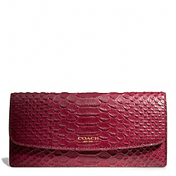 COACH F49659 - SOFT WALLET IN PYTHON EMBOSSED LEATHER ONE-COLOR