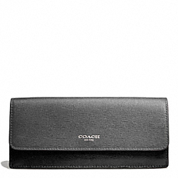 COACH SAFFIANO COLORBLOCK NEW SOFT WALLET - ONE COLOR - F49670