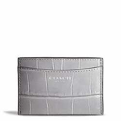 COACH EMBOSSED CROC CARD CASE - ONE COLOR - F49691