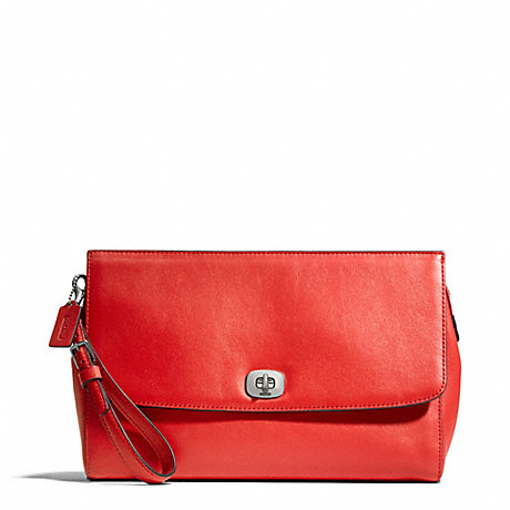 COACH LEATHER FLAP CLUTCH -  - f49693