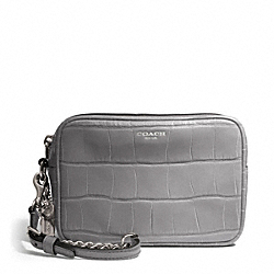 COACH EMBOSSED CROC FLIGHT WRISTLET - ONE COLOR - F49718
