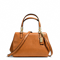COACH MADISON LEATHER MINI SATCHEL - ONE COLOR - F49720