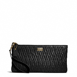 COACH MADISON GATHERED TWIST FLAT CLUTCH - Light Gold/BLACK - F49721