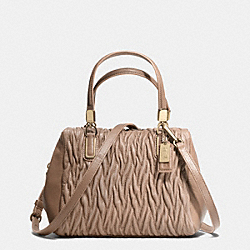 COACH MADISON GATHERED TWIST MINI SATCHEL - LIGHT GOLD/STONE - F49723