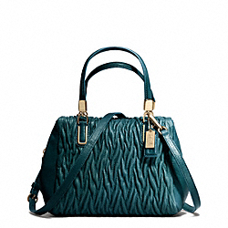 COACH MADISON GATHERED TWIST MINI SATCHEL - Light Gold/DK TEAL - F49723