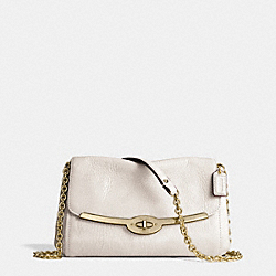 COACH MADISON LEATHER CHAIN CROSSBODY - LIGHT GOLD/PARCHMENT - F49738