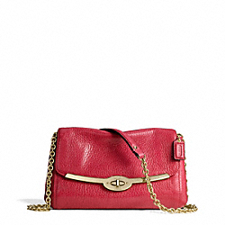 COACH MADISON LEATHER CHAIN CROSSBODY - ONE COLOR - F49738