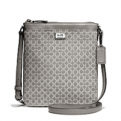 COACH MADISON NEEDLEPOINT OP ART SWINGPACK - ONE COLOR - F49746